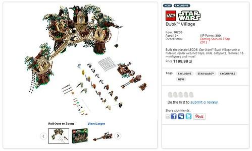 LEGO Shop Star Wars 10236 Ewok Village