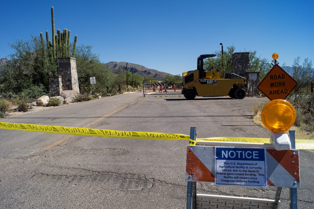 1310 Sabino Canyon Parking and Facilities Closed