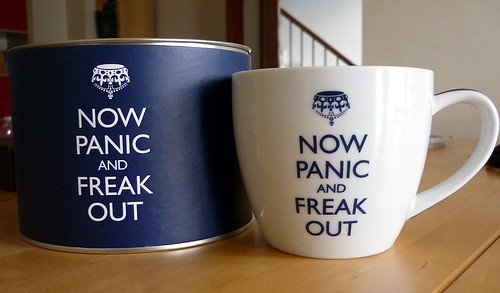 'Now Panic and Freak Out' mug