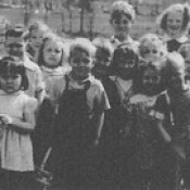 Courtesy of Judith Sams -Easter Hunt at playground 1946