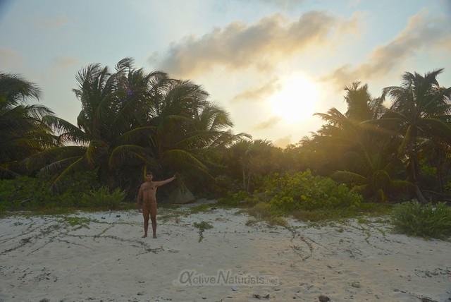 naturist 0009 Sian Kaan beach, Quintana Roo, Mexico