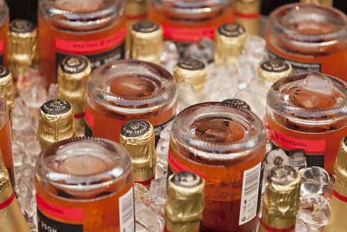 A few bottles on ice