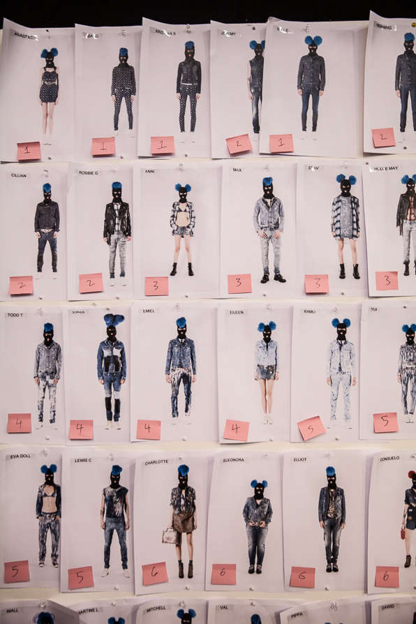 Masked denim finale at Diesel Fall Winter 2014 board
