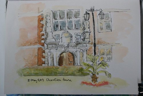 Sketch of the Entrance to Charlton House, London, UK