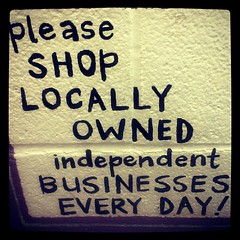 Shop Local graffiti