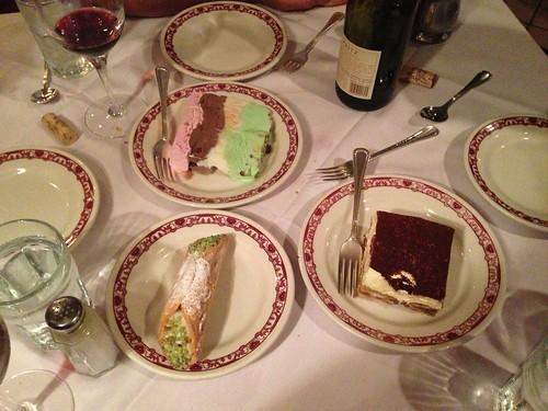 excellent Gene & Georgetti desserts