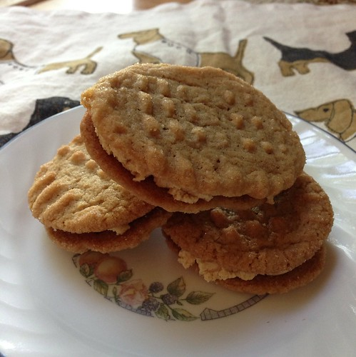 Vegan/gluten free peanut butter sandwich cookies