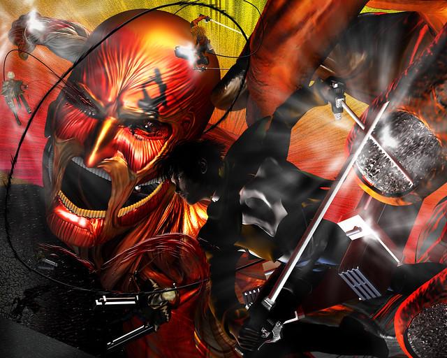 【進撃の巨人】幻の対戦 リヴァイ班対巨人