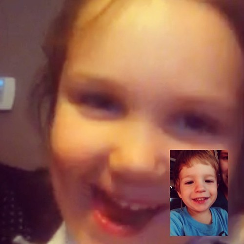 Cousins FaceTiming.  Yay for technology!