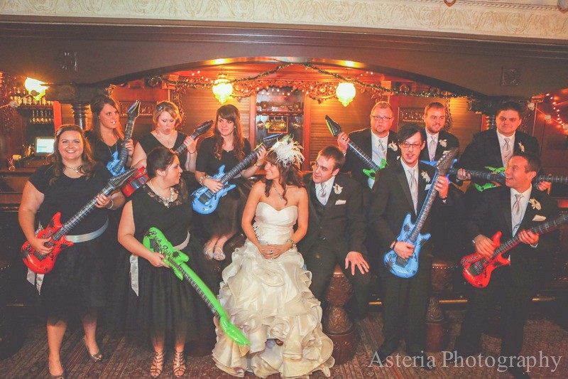 Candid Wedding Party Photo