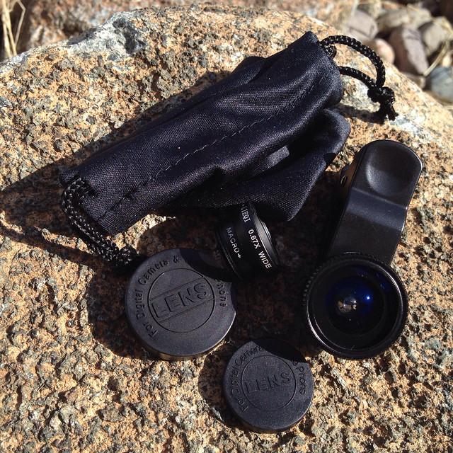 Cloth-Clip Wide (+Macro) + Fisheye Lenses for Camera Phones - 2
