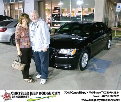 Thank you to John & Priscilla Hatcher on your new 2014 #Chrysler #300 from David Walls and everyone at Dodge City of McKinney! #NewCar by Dodge City McKinney Texas