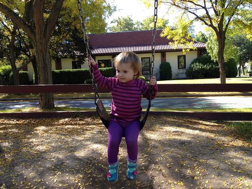 """on the """"big girl"""" swing"""