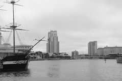 Jose Gasparilla pirate boat and Tampa downtown, Bayshore Blvd