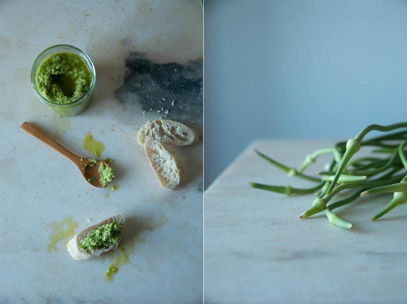 flor de alho pesto