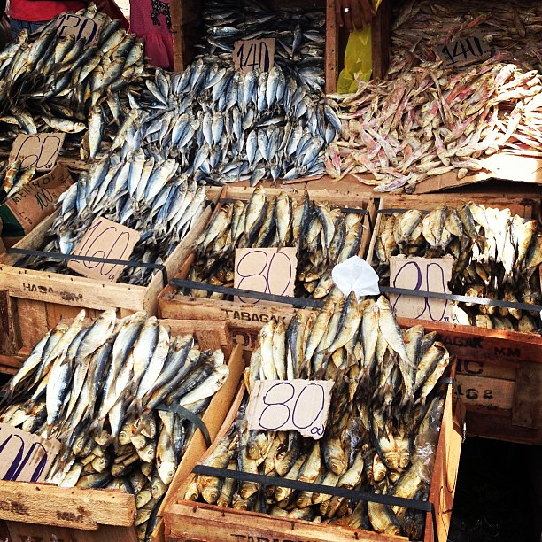 Dried fish at Malatapay's Wednesday Market