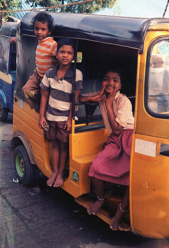 The Kids on a Rickshaw