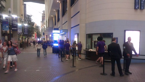 Very long queue outside Hacked.io