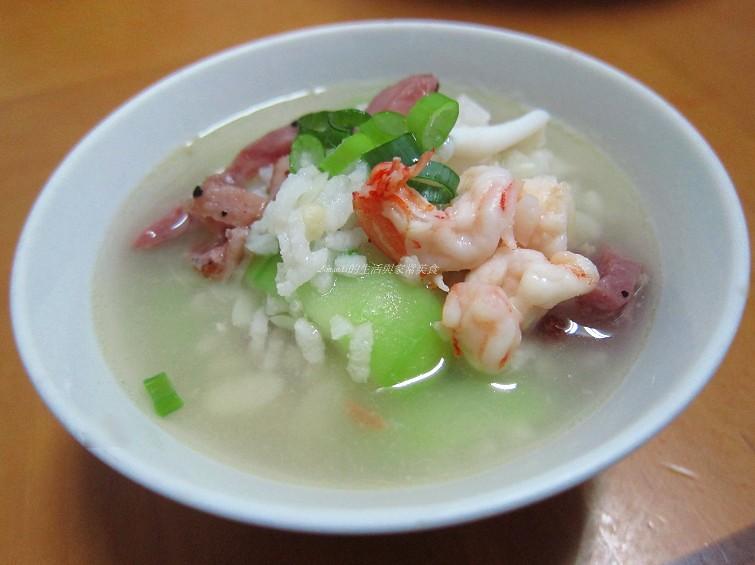 海鮮燻雞粥