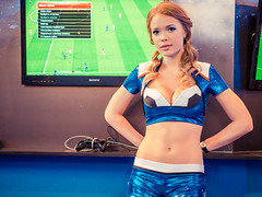 PES Promo Girl At Igromir 2013 Flickr Photo Sharing