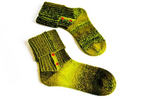 Buttoned socks