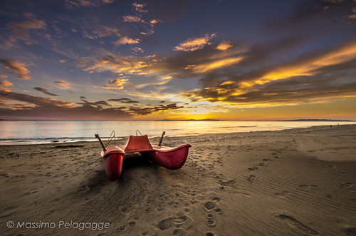 Follonica Sunset by Massimo Pelagagge