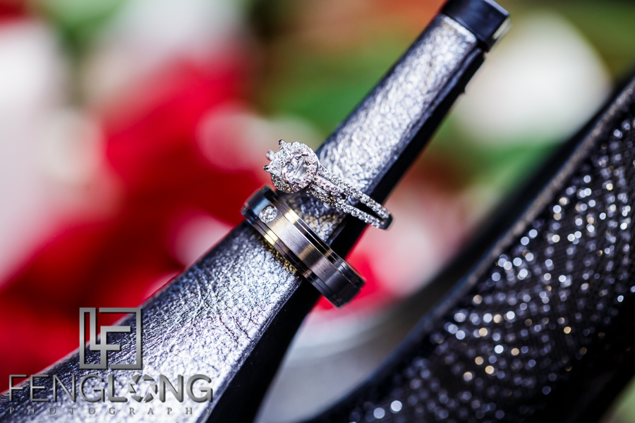 Wedding rings on shoe for Muslim Bangladeshi wedding