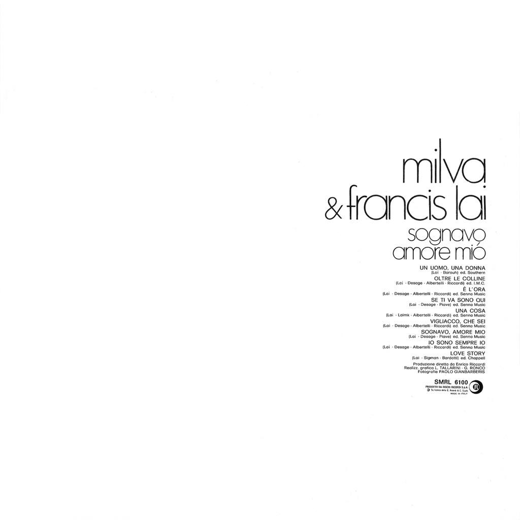 Milva & Francis Lai – Sognavo Amore Mio