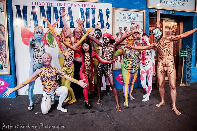 naturist 0013 body paint art, Times Square, New York, NY, USA