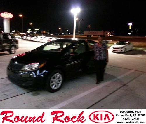 Thank you to Tanisha Crenshaw on your new 2013 Kia Rio from Rudy Armendariz and everyone at Round Rock Kia! by RoundRockKia