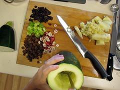 Prepping the Zucchini