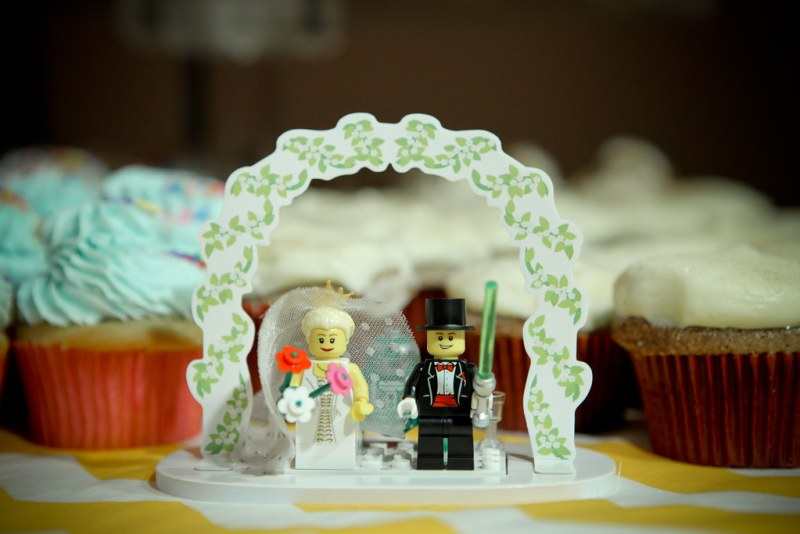 logo wedding cake topper