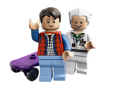 21103 Back To The Future Time Machine figs