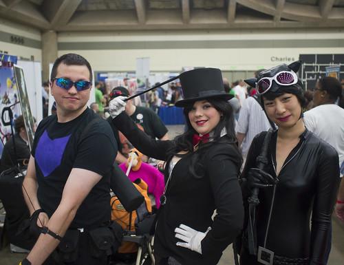 Hawkeye, Zatanna, and Catwoman