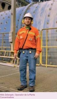 Aldo Zelarayán, Operador de la Planta Concentradora de Minera Alumbrera.