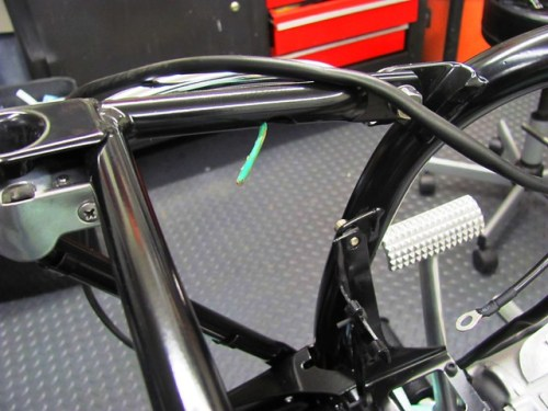 Pull Wire for Rear Frame Wiring