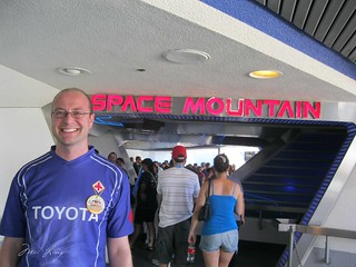 Dan outside the entrance to space mountain