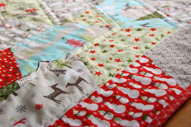 quilting and fabric close-up
