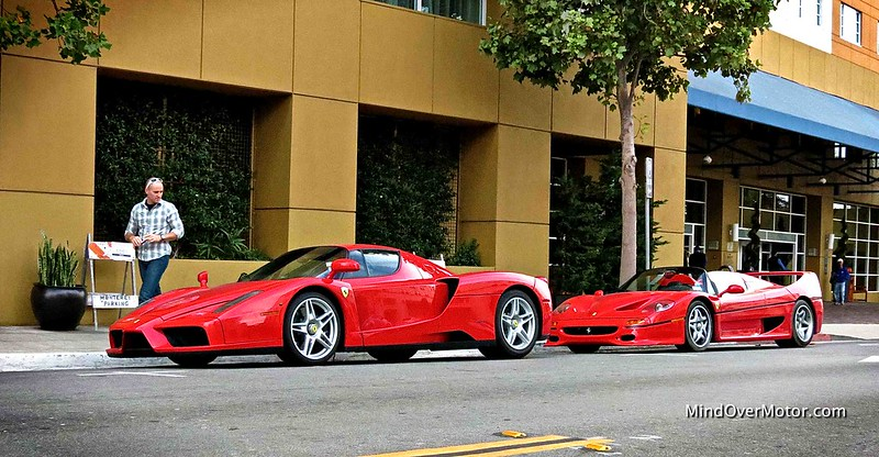 Ferrari Enzo and F50 spotted in Monterey, CA