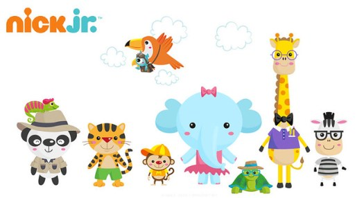 Nick Jr UK online game characters