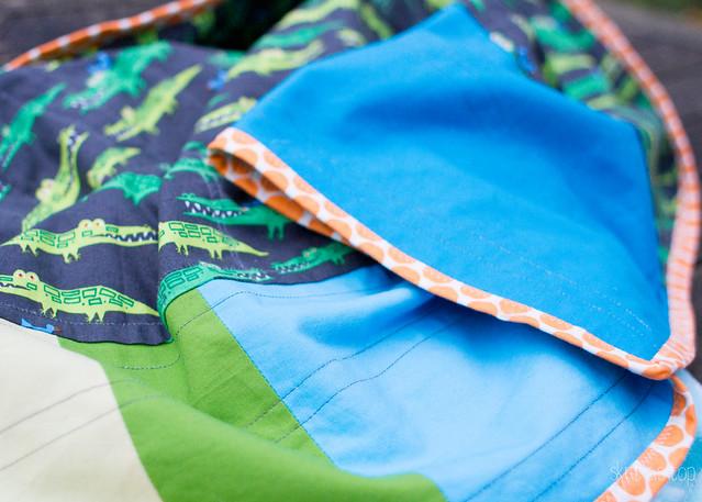 ed emberley alligator quilt
