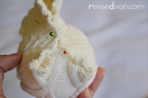 Sweater Ball Ornament Tutorial Step 2