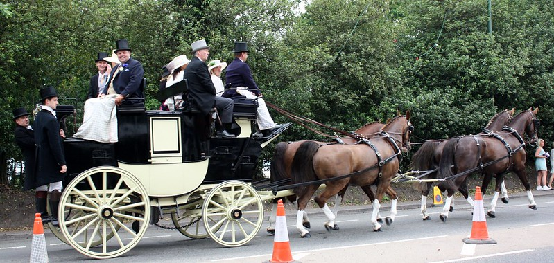 Ascot traveling by carriage
