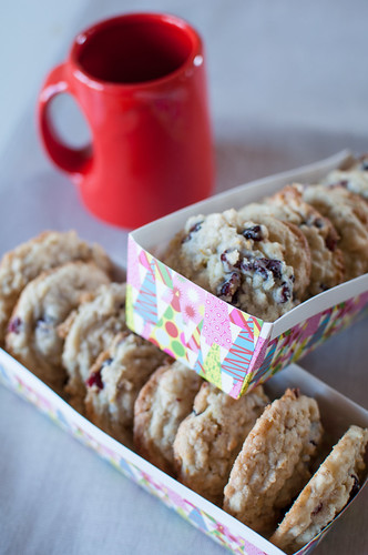 White Chocolate Oatmeal Craisin Cookies