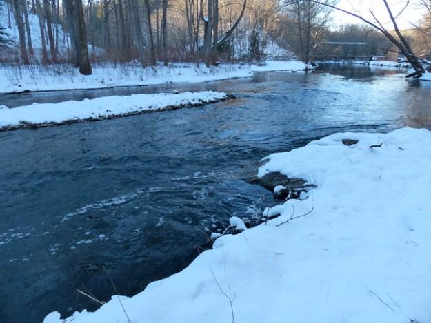 Gunpowder River, Masemore Rd Upstream in Snow