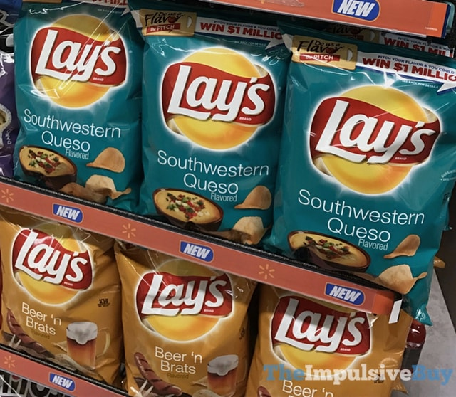 Lay's Southwestern Queso and Beer 'n Brats Potato Chips