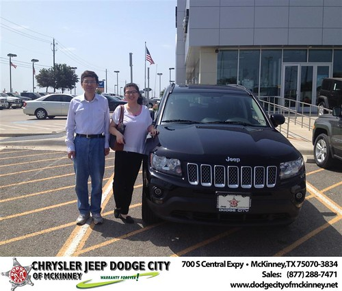 Thank you to Xueji Sun on the 2013 new Jeep  from Larry Reed and everyone at Dodge City of McKinney! by Dodge City McKinney Texas