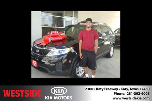 Thank you to Zubin  George  on your new 2014 Kia Sorento from Damon  Clayton  and everyone at Westside Kia! by Westside KIA