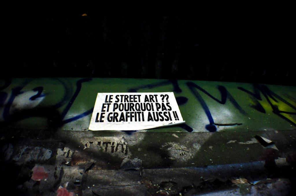Le Street Art ?? Et Pourquoi Le Graffiti Aussi !!