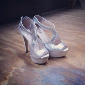 Lady Gaga's shoes. In preparation for